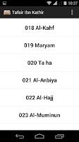Screenshot of Tafsir Ibn Kathir