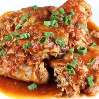 Chicken In Spicy Tomato Sauce.