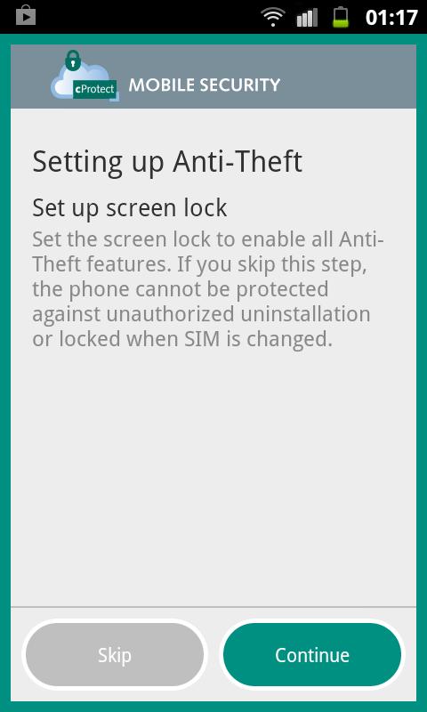 cProtect - screenshot