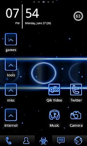 Neon Blue ADW Theme screenshot 0