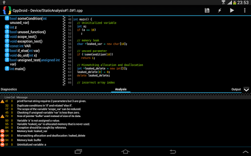 Free Cppdroid C C Ide Versionvaries With Device Download