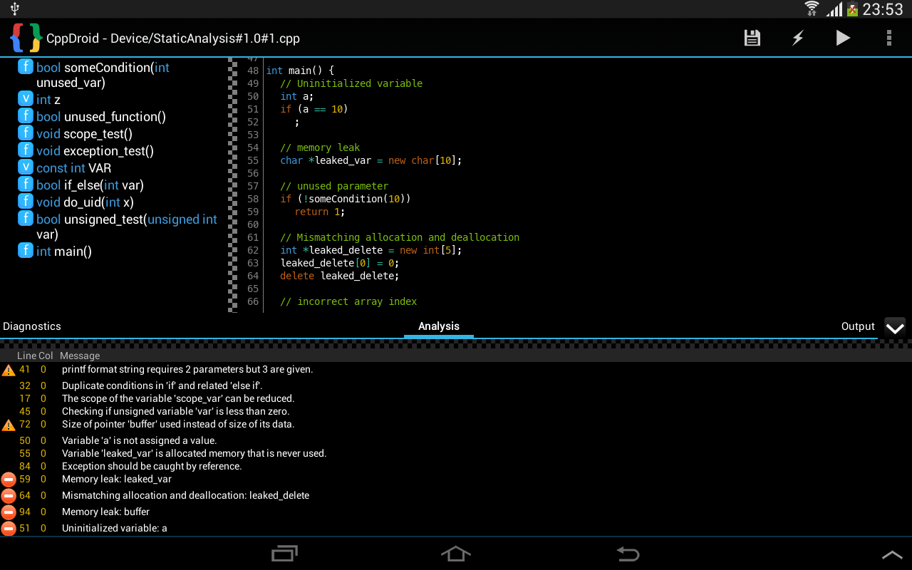 Cppdroid c c ide android apps on google play Popular c compilers