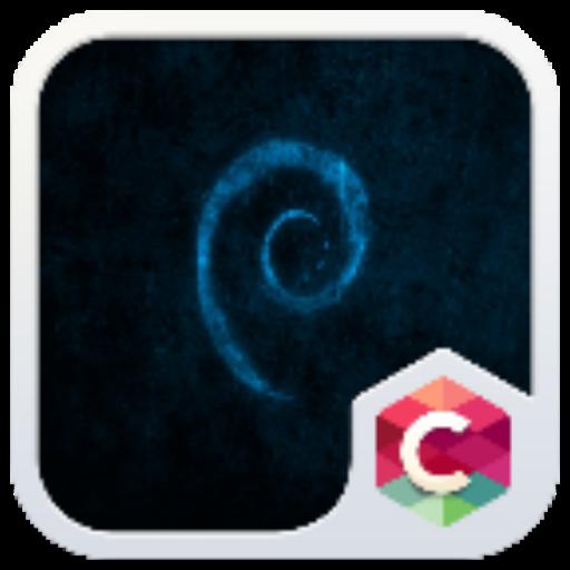 Blue Texture C Launcher Theme LOGO-APP點子