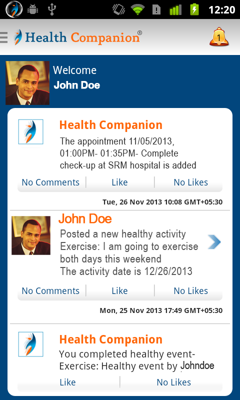 Health Companion- screenshot