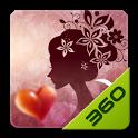 红粉佳人 - 360桌面主题 icon