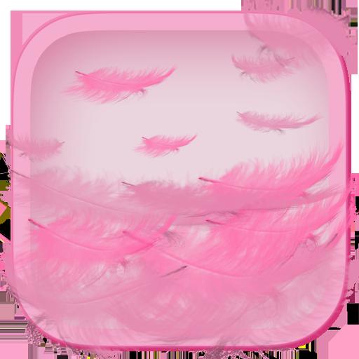 粉紅色的羽毛動態壁紙 個人化 LOGO-玩APPs