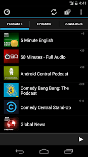 Podkicker Podcast Player: miniatura de captura de pantalla
