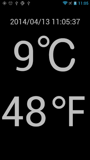 GPS測位現在地の外気温