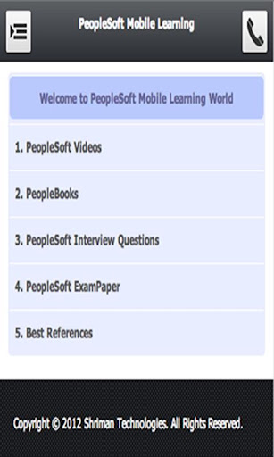 PeopleSoft Mobile Learning
