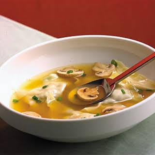 Chinese Chicken Dumpling Soup.