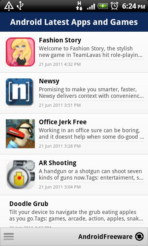 Android Latest Apps and Games - screenshot