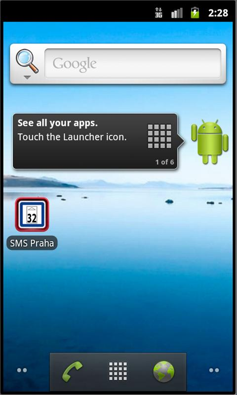 SMS jízdenka 32 Kč- screenshot