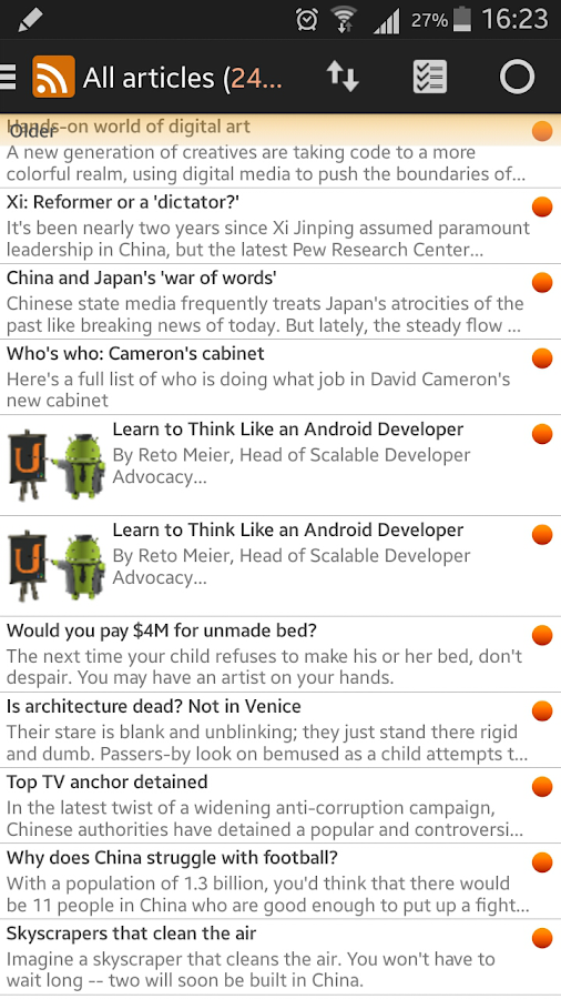 Smart Feed Reader - screenshot