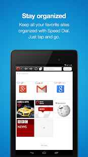 Opera Mini mobile web browser - screenshot thumbnail