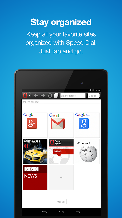 Opera Mini mobile web browser - screenshot