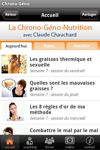 La Chrono Géno Nutrition v0.1- screenshot