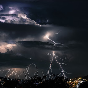 Electric Lightning Orchestra by Alexius van der Westhuizen - Landscapes Weather ( thunderbolt and lightning, lightning, summer rain, electric storms,  )