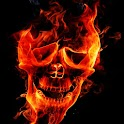 3D burning Skull logo