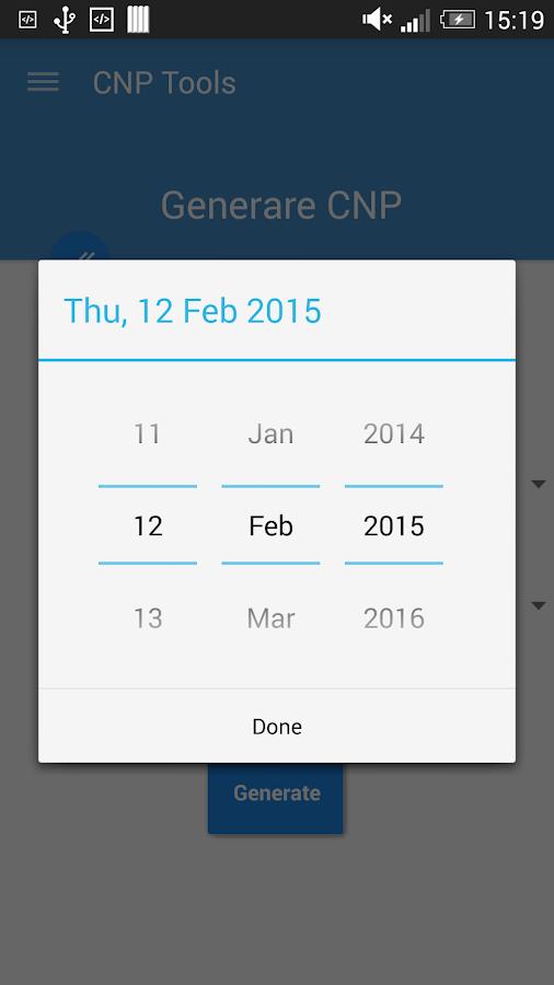 CNP Verificare / Generare- screenshot