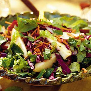 Fresh Pear Salad with Asian Sesame Dressing Recipe