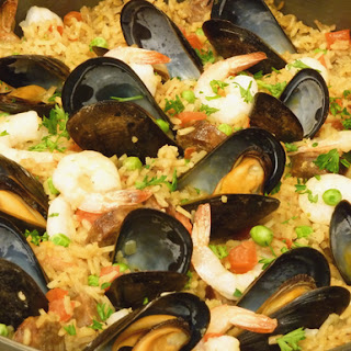 Skillet Seafood Sausage Paella