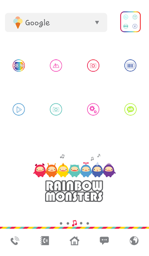 rainbow monsters dodol theme