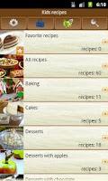 Screenshot of Kids recipes