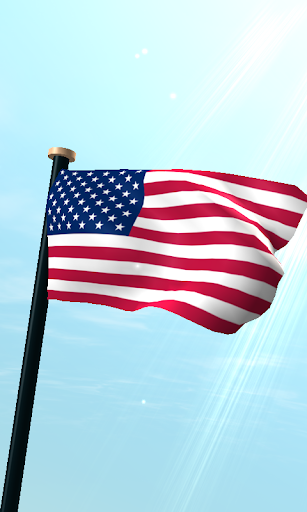 米国フラグ3Dライブ壁紙