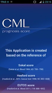 CML Prognosis Score V.1 - screenshot thumbnail