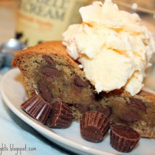Pretzel Bottomed Reeses Peanut Butter Cup Cookie Pie