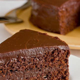 Southern-style Chocolate Cake with Chocolate Ganache Frosting.