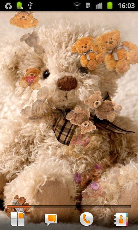 Teddy Bear Live Wallpaper - screenshot