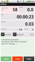 Screenshot of GPSSend