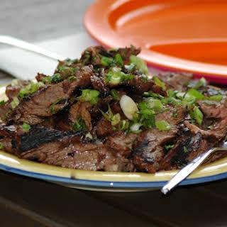 Grilled Asian-Marinated Skirt Steak.
