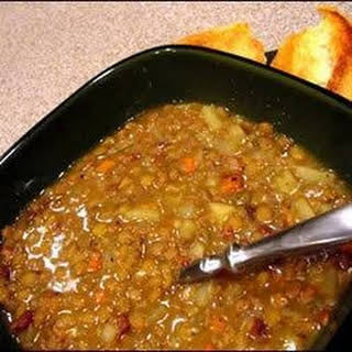 Beer and Maple Lentil Stew.