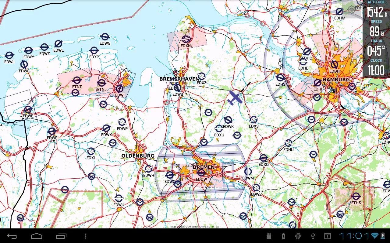 VFRnav flight navigation- screenshot