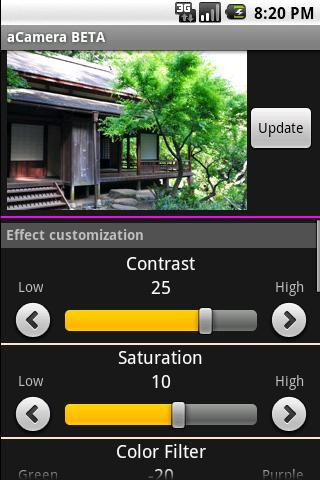 aCamera BETA- screenshot
