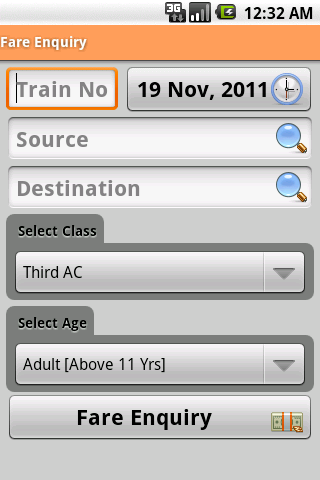 Indian Rail Info App - screenshot