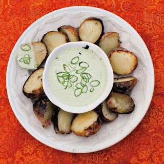 Ember-Roasted Salt Potatoes With Scallion Cream