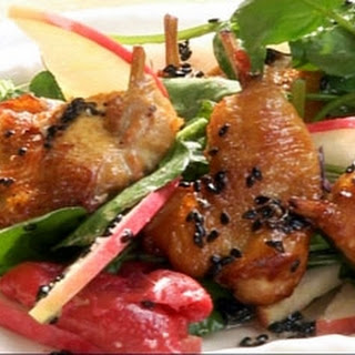 Tea-smoked Quail With Apple And Watercress