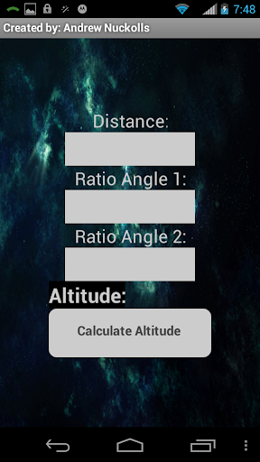 Rocket altitude calculator