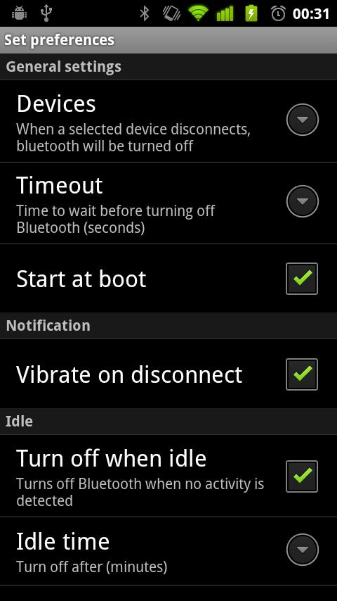 Bluetooth Auto Off - screenshot