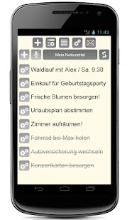 Notizen + Voice + Widget Screenshot