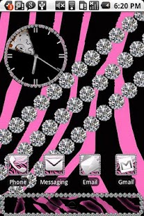 Zebra Pink Diamond Theme HD