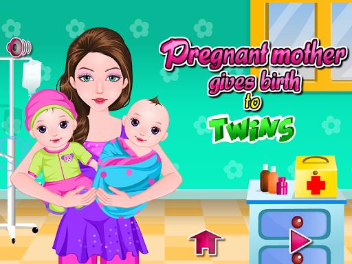 出生雙胞胎嬰兒遊戲
