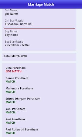 Marriage for in matching tamil name திருமணப் பொருத்தம்