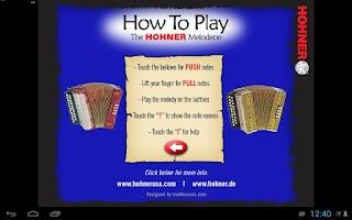 Screenshot of Hohner C#/D Button Accordion