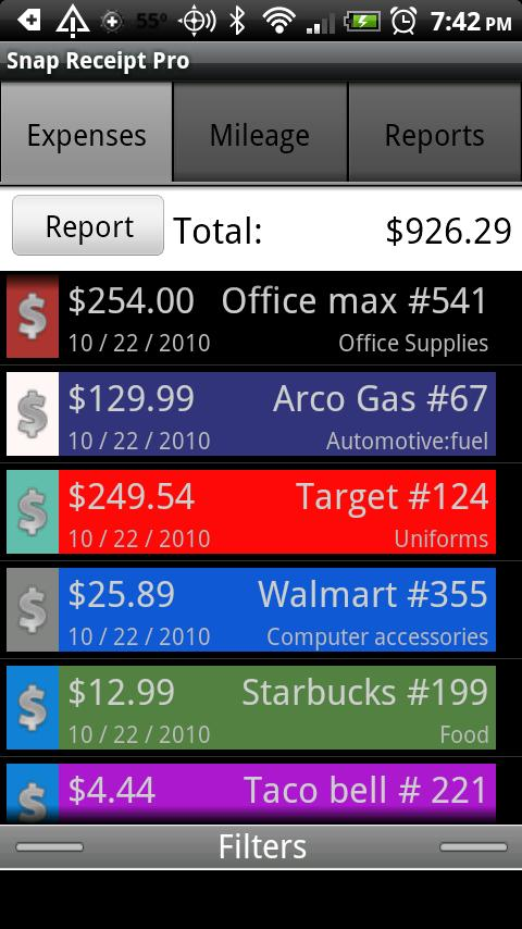 Snap Receipt Pro - screenshot