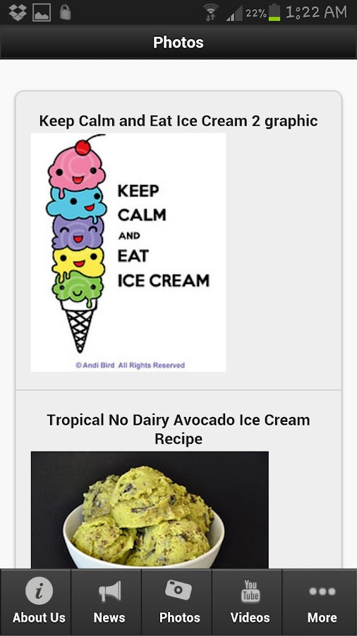 Ice Cream Recipes - screenshot