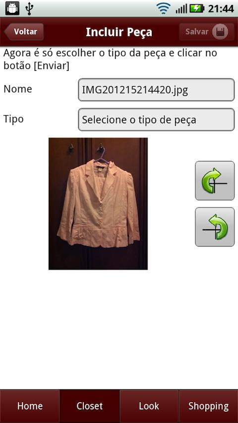 meuCloset - screenshot